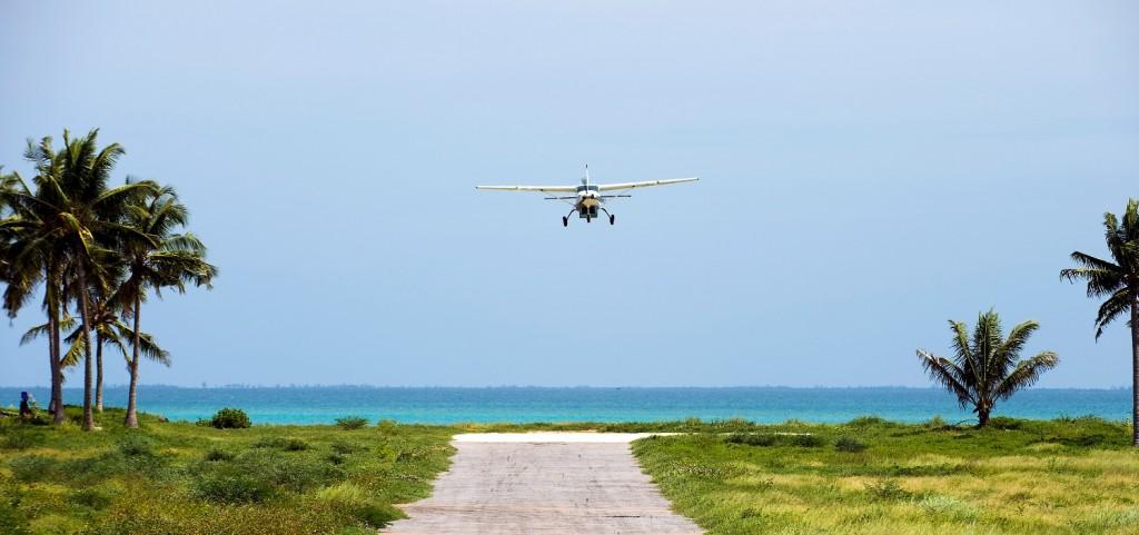 Vamizi 35 - airstrip arrival