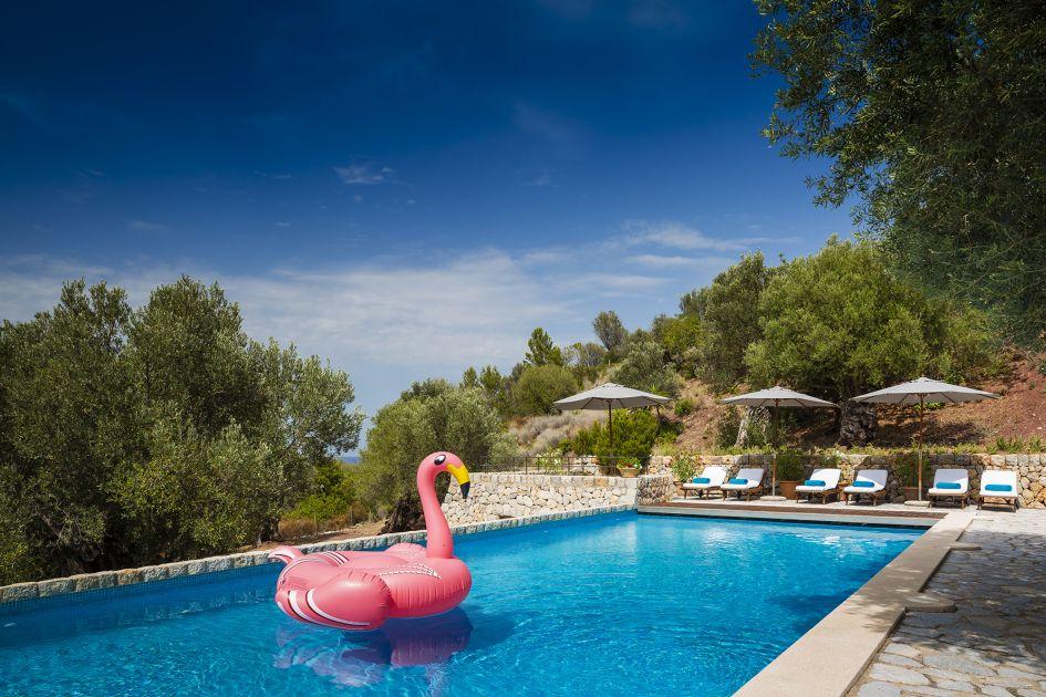 Swimming pool at Sa Terra Rotja, Mallorca
